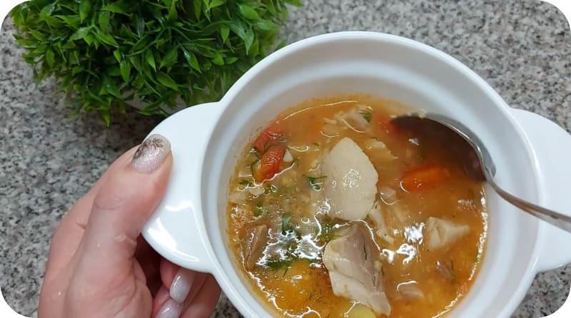 Ароматный суп из сазана