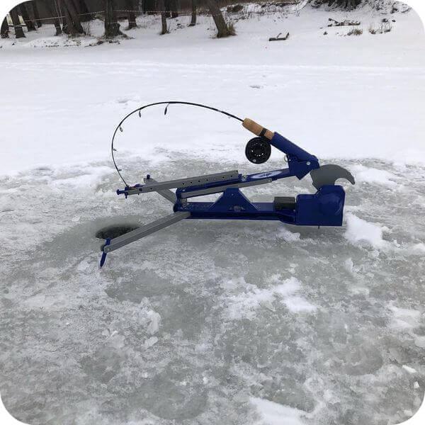 зимняя ловля форели