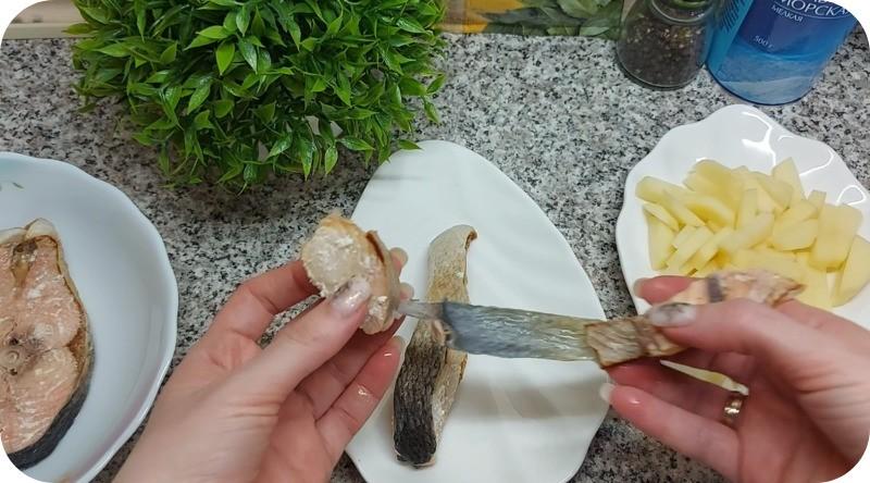 Уха из гольца с картофелем