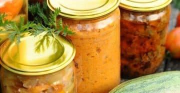 салат с скумбрией на зиму с овощами