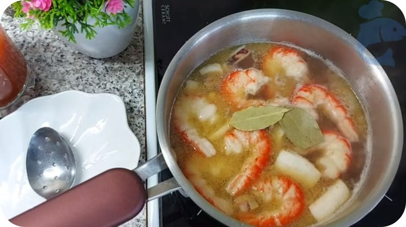 Суп Тосканский фасолевый с креветками